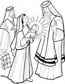 coloring pages baby jesus in the temple presentazione di ges 249 al tempio 7 gif 813 215 1045