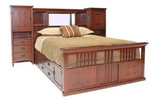 san mateo oak mid wall bed with pedestal beds