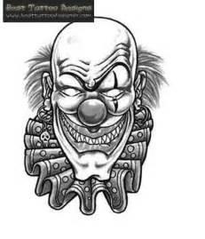 Black and grey clown head tattoo design