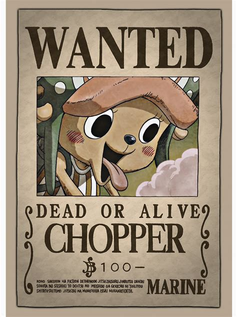Membuat Poster Wanted One Piece | one piece wanted chopper www pixshark com images