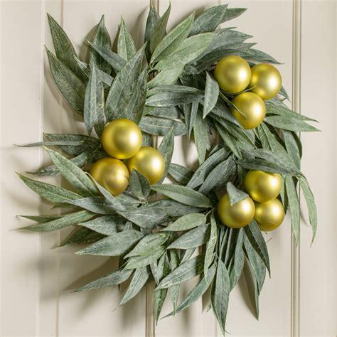27 quot bay leaf wreath green fr6413 craftoutlet