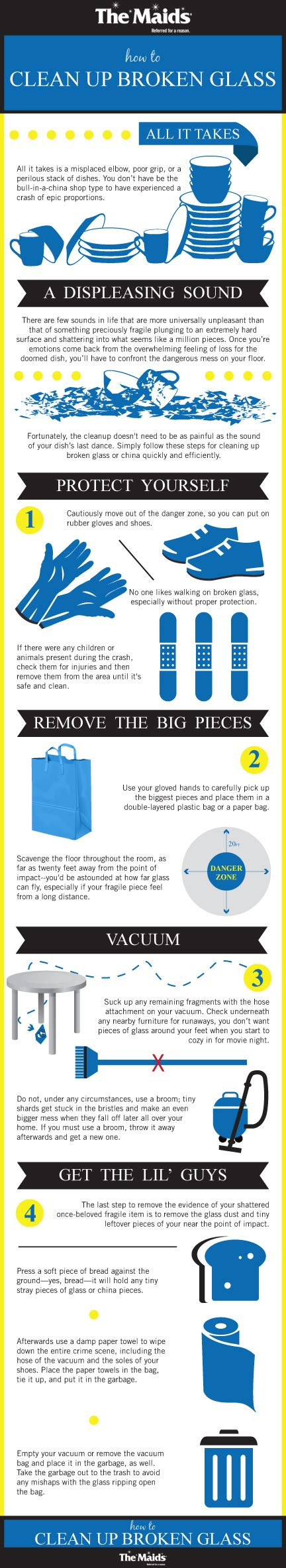 cleaning blogs how to clean up broken glass the maids blog