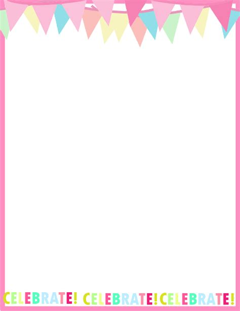 Design For Birthday Cards Borders Fresh Designs Birthday Borders For Invitations And More
