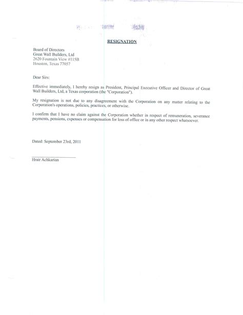 Resignation Letter Sle Of Pharmacist Resignation Letter Format Top Rescind Resignation Letter