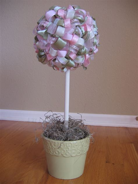 topiary diy polka dot treats ribbon topiaries diy centerpieces