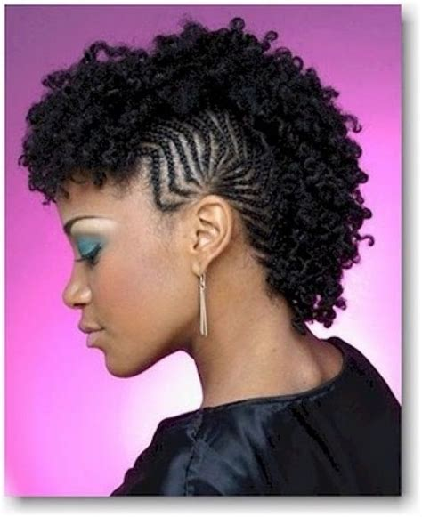 braided mohawk hairstyle best curly hair to use curly braided mohawk hairstyles for women image5 mohawk