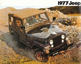 Jeep Wrangler 1977 jeep cj 5 golden eagle 1977 jeep sales brochure