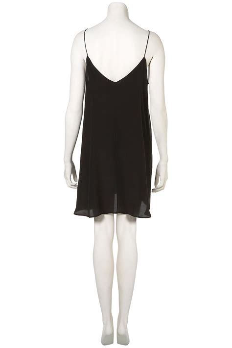 topshop swing dress topshop swing v slip dress by boutique in black lyst