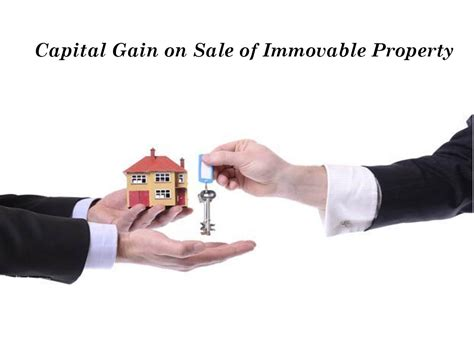 capital gain on sale of immovable property by rohit sharma