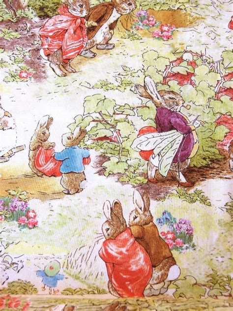 Beatrix Potter Quilt Fabric by Beatrix Potter Rabbit Fabric Quilting Sewing Baby Ebay