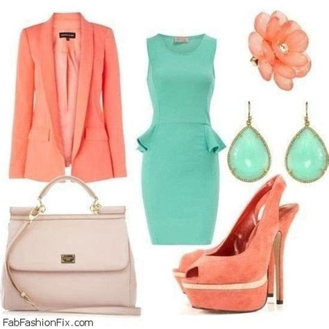 style guide 6 chic ways to wear coral and turquoise