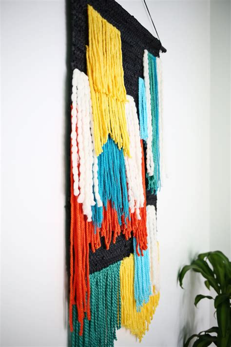 Wall Hanging Tutorial - fast easy large tapestry wall hanging a beautiful mess