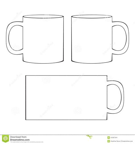 coffee cup template 20 mug template vector images free vector coffee cup