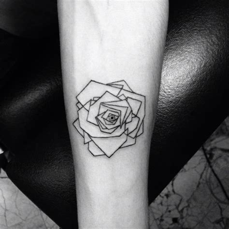 small modern tattoos 25 best ideas about geometric flower tattoos on