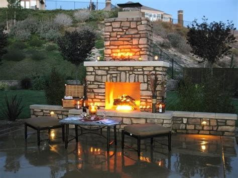 backyard fire chimney wood burning outdoor fireplace landscaping network