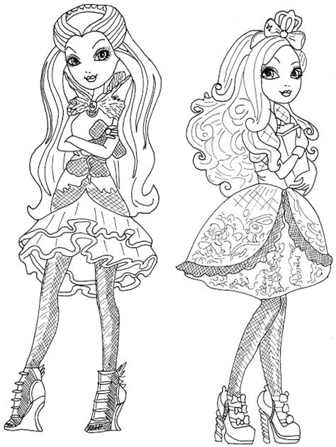 ever after monster high coloring pages dibujos para pintar de las ever after high