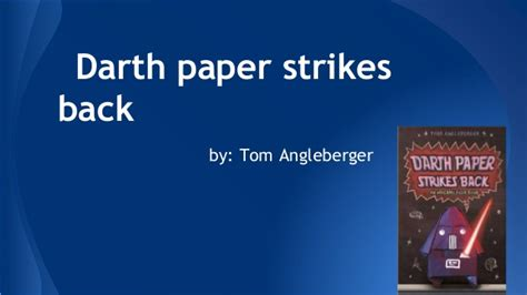 darth paper strikes back book report darth paper strikes back