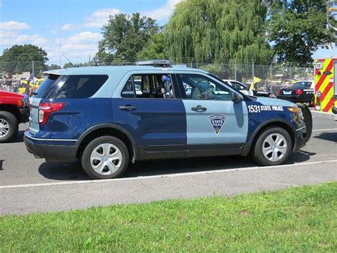 massachusetts state police ford explorer modern police vehicles police state police