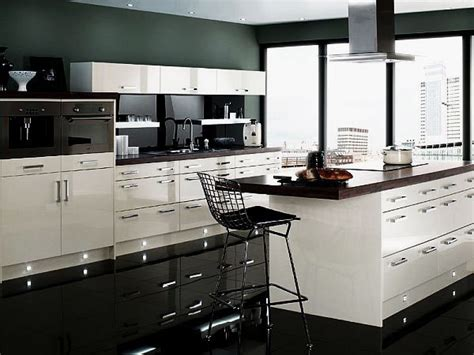 contemporary black and white kitchen design ideas