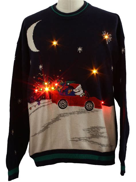 light up tree sweater mens lightup sweater hathaway mens