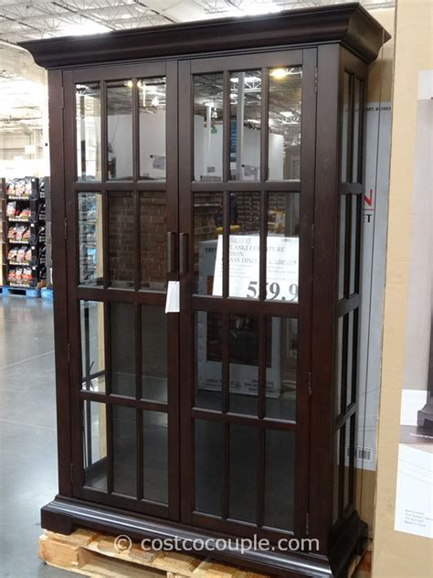 pulaski cambridge sliding door cabinet costco glass cabinet information