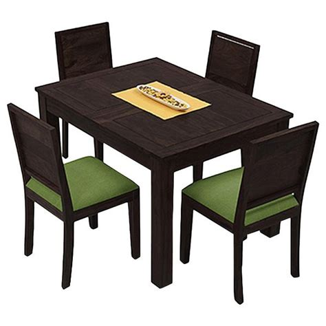 B Q Bistro Table And Chairs Ethnic India Copenhagen 4 Seater Sheesham Wood Dining Set Buy At Best Price In India