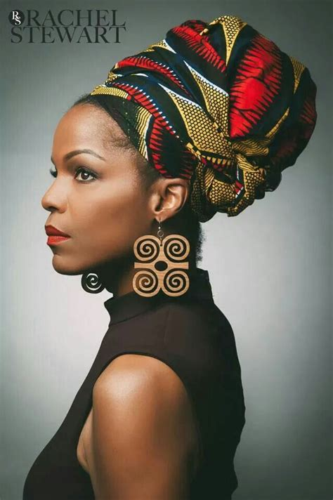 afro hairstyles with scarves african prints african women dresses african fashion
