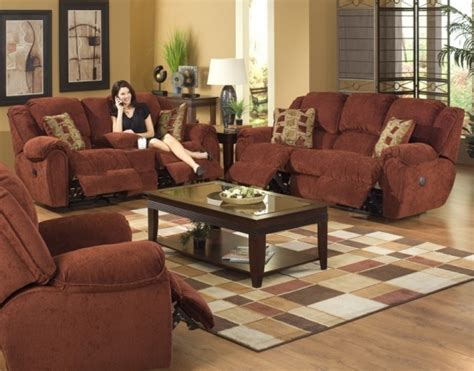 Coffee Table With Reclining Sofa Furniture Combination Of Leather And Fabric Reclining Sofa And Coffee Table With Reclining Sofa