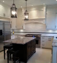 White Cabinet Kitchens With Granite Countertops glacier white marble tile mediterranean kitchen