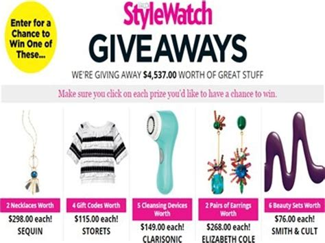 Stylewatch Giveaways - peoplestylewatch com giveaways enter people magazine stylewatch giveaways