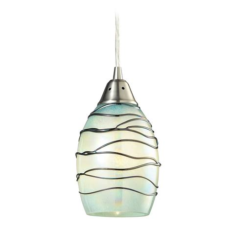 Led Pendant Lighting Led Mini Pendant Light With Mint Green Glass 31348 1mn Led Destination Lighting