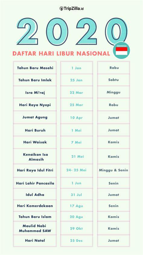 jadwal libur nasional  indonesia  cuti bersama