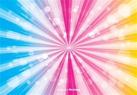 colorful sunburst vector background   vector