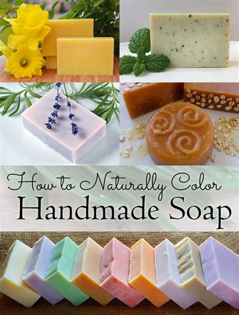 How To Make Handcrafted Soap - how to naturally color handmade soap garden living and