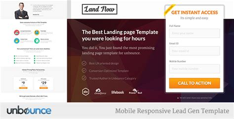 Unbounce Responsive Landing Page Template Agents By Surjithctly Themeforest Lead Landing Page Template