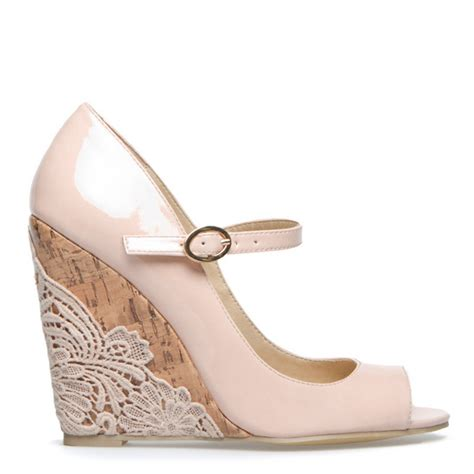 Blush Wedge Wedding Shoes by Wedding Wedges Weddingbee
