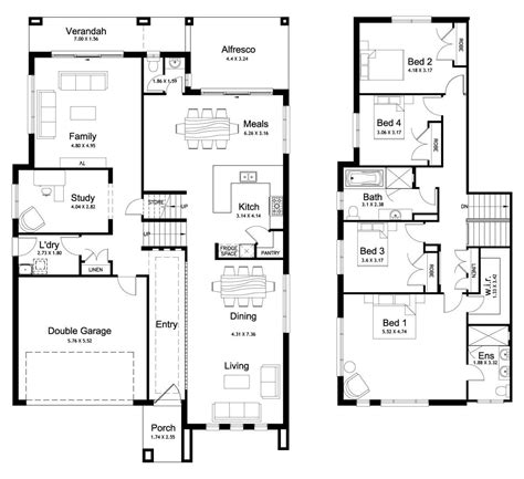 4 level side split house plans floor plan friday split level 4 bedroom study