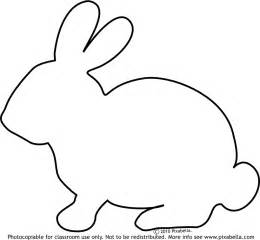 Rabbit Pictures Outline by Easter Bunny Outline Coloring Home