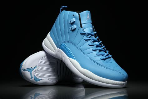 light blue air jordans 12 white light blue