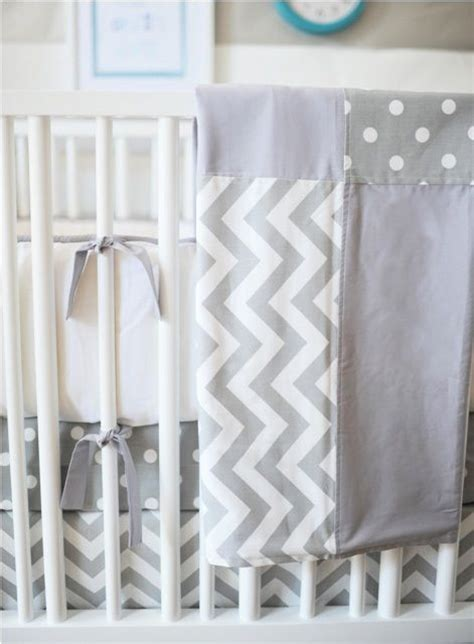 gray chevron baby bedding gray ziggy crib bedding set love the polka dots and