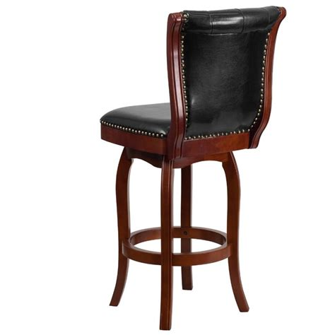 30 leather bar stools 30 quot leather bar stool in black and cherry ta 240130 chy gg