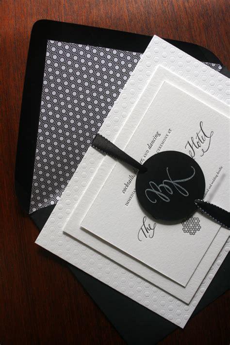 black and white invitations brock s modern black and white wedding invitations