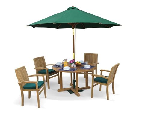 Outdoor Table Set Bali Patio Garden Table And Stackable Chairs Set