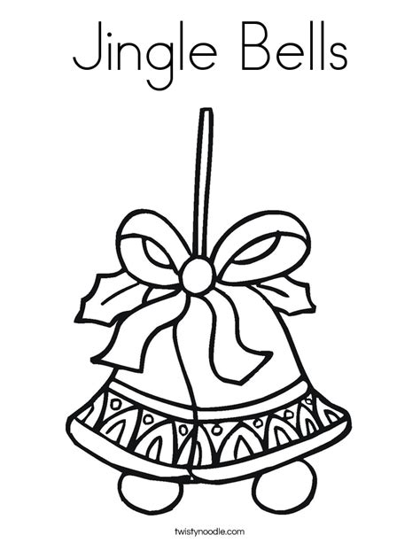 jingle bells coloring page twisty noodle