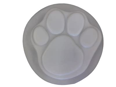 dog paw print concrete stepping stone mold  moldcreations