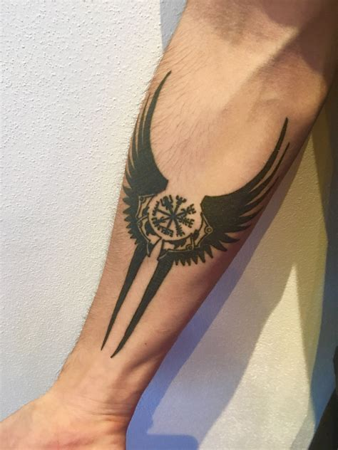 valkyrie wings tattoo quot if this sign is carried one will never lose one s way in