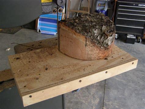 bandsaw jig  lathe blanks woodworking talk
