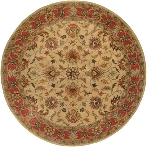 6ft circular rugs artistic weavers beige 6 ft x 6 ft area rug jhn 1001 the home depot