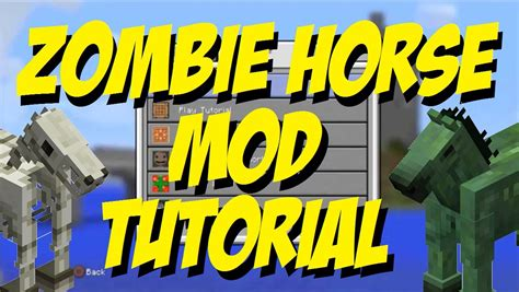 mod in minecraft ps4 zombie horse mod minecraft ps4 ps3 easy mod tutorial youtube
