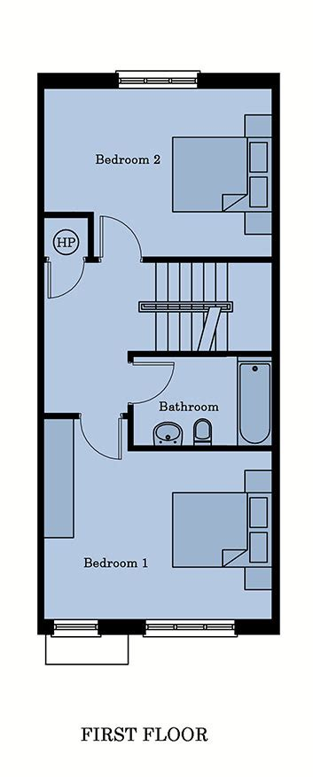 Plan Houses 187 3 Bedroom Middle House Floor Plans